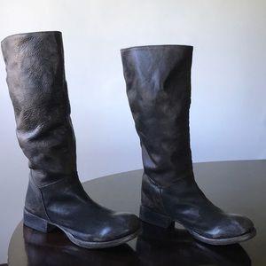 Ash rustic Gray 10M Knee hi Rugged Combat Boots